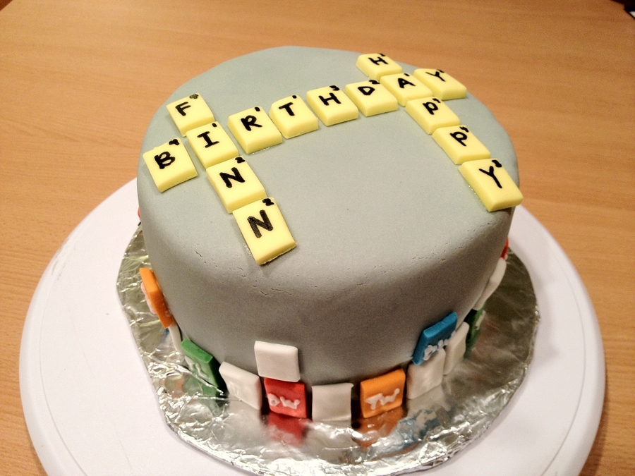 Words With Friends Cake on Cake Central