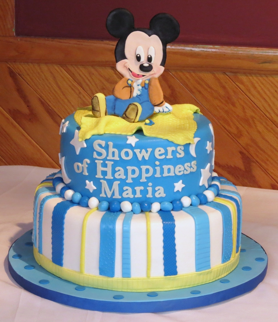 Baby Mickey Baby Shower Cakecentral