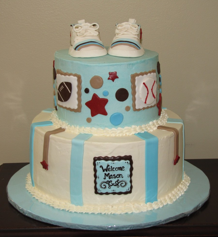 All Star Sports Baby Shower on Cake Central