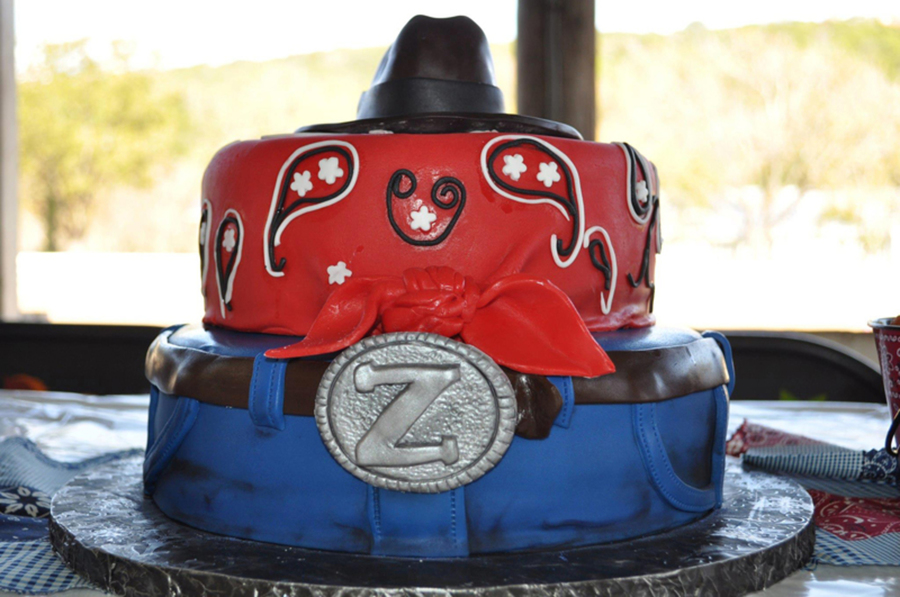 Jean, Bandana, Cowboy Hat Cake on Cake Central
