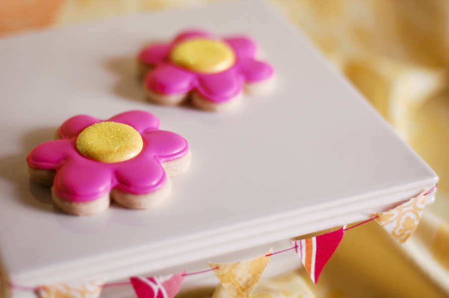 Pink Flower Cookies on Cake Central