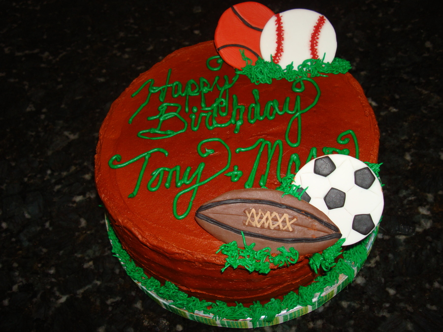 Sports B'day Cake  on Cake Central