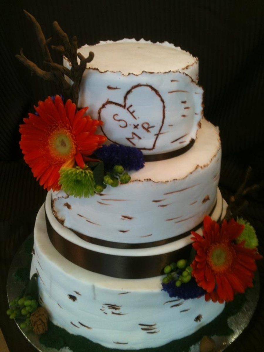 Birch Tree Wedding Cake on Cake Central