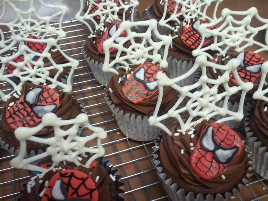 Spiderman Cupcakes on Cake Central