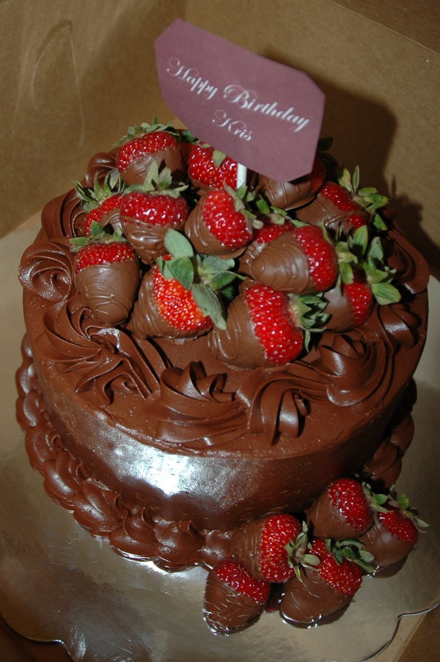 Amazing Chocolate Strawberry Birthday Cake Cakecentral Com Funny Birthday Cards Online Barepcheapnameinfo