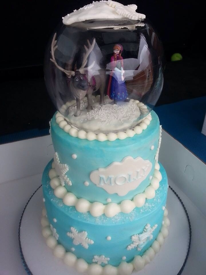 Frozen Snowglobe Cake Cakecentral Com