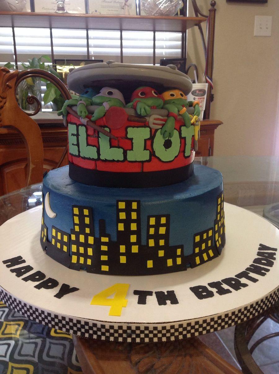 Admirable Tmnt Birthday Cake Cakecentral Com Funny Birthday Cards Online Ioscodamsfinfo