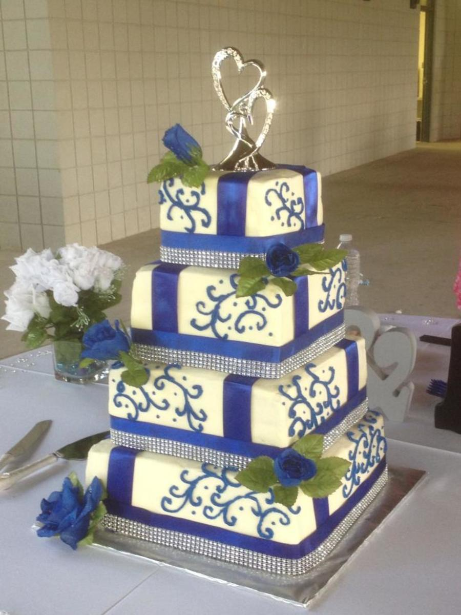 red and royal blue wedding cakes royal blue wedding cake cakecentral 19086