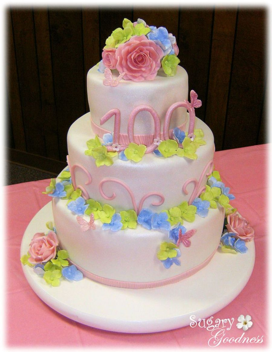 100Th Birthday Cake on Cake Central