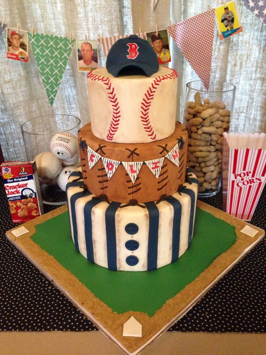 Baseball Themed Cake Buttercream