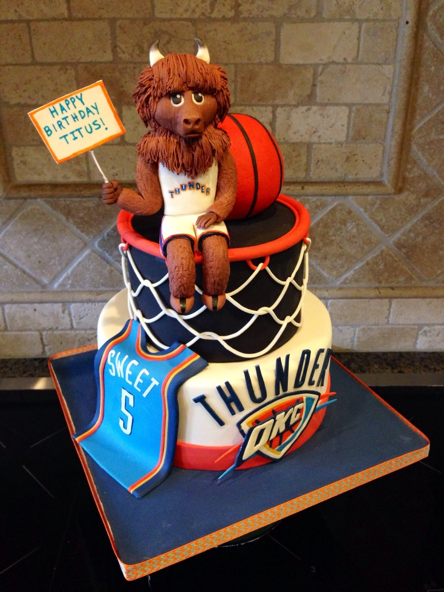 Thunder Up Okc Thunder Cake For 5 Year Old Boy Ball Is Rkt  ~ 152910_Birthday Party Ideas Okc
