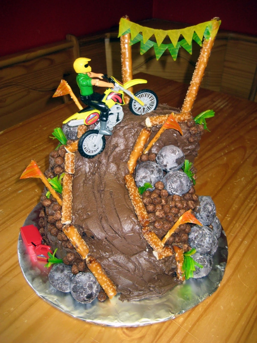 Dirt Bike Mountain - CakeCentral.com
