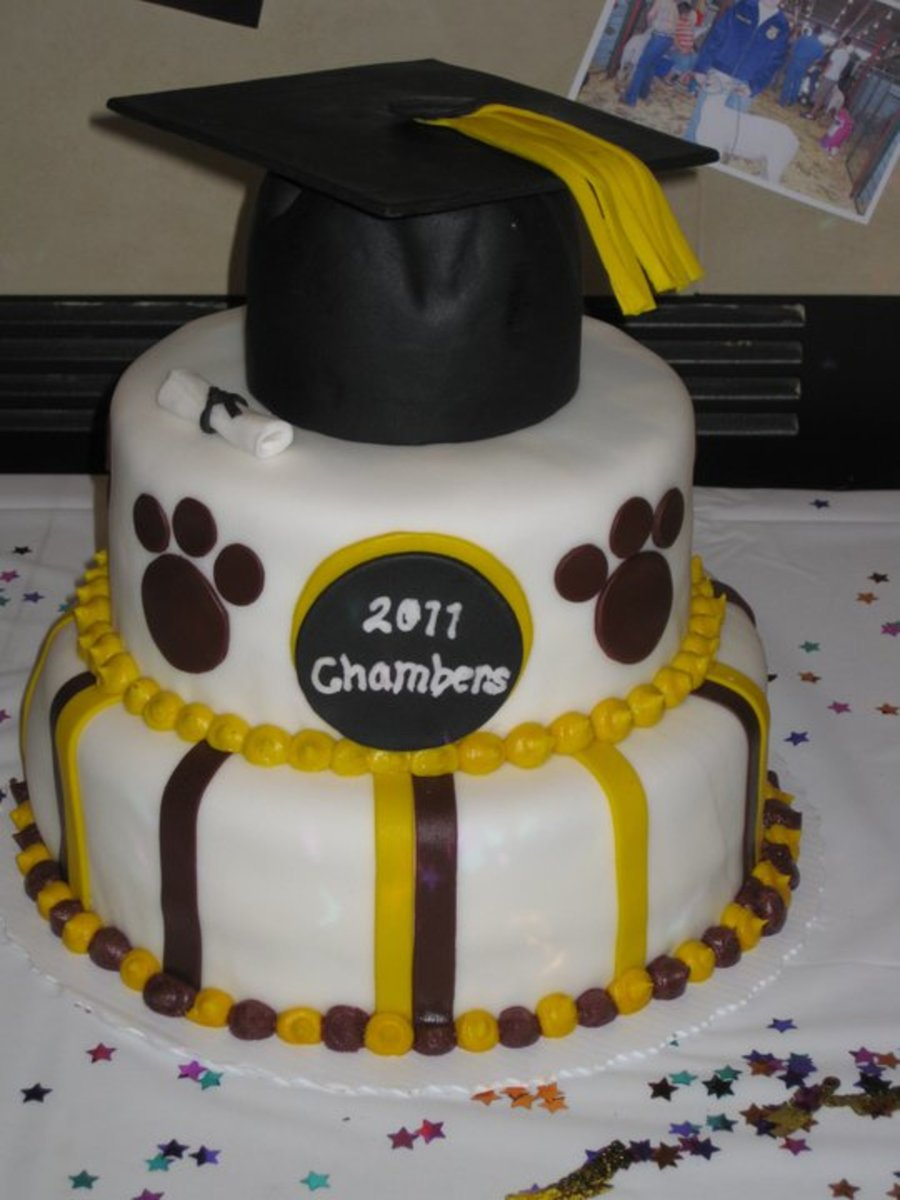 Burgundy And Gold Graduation Cake on Cake Central