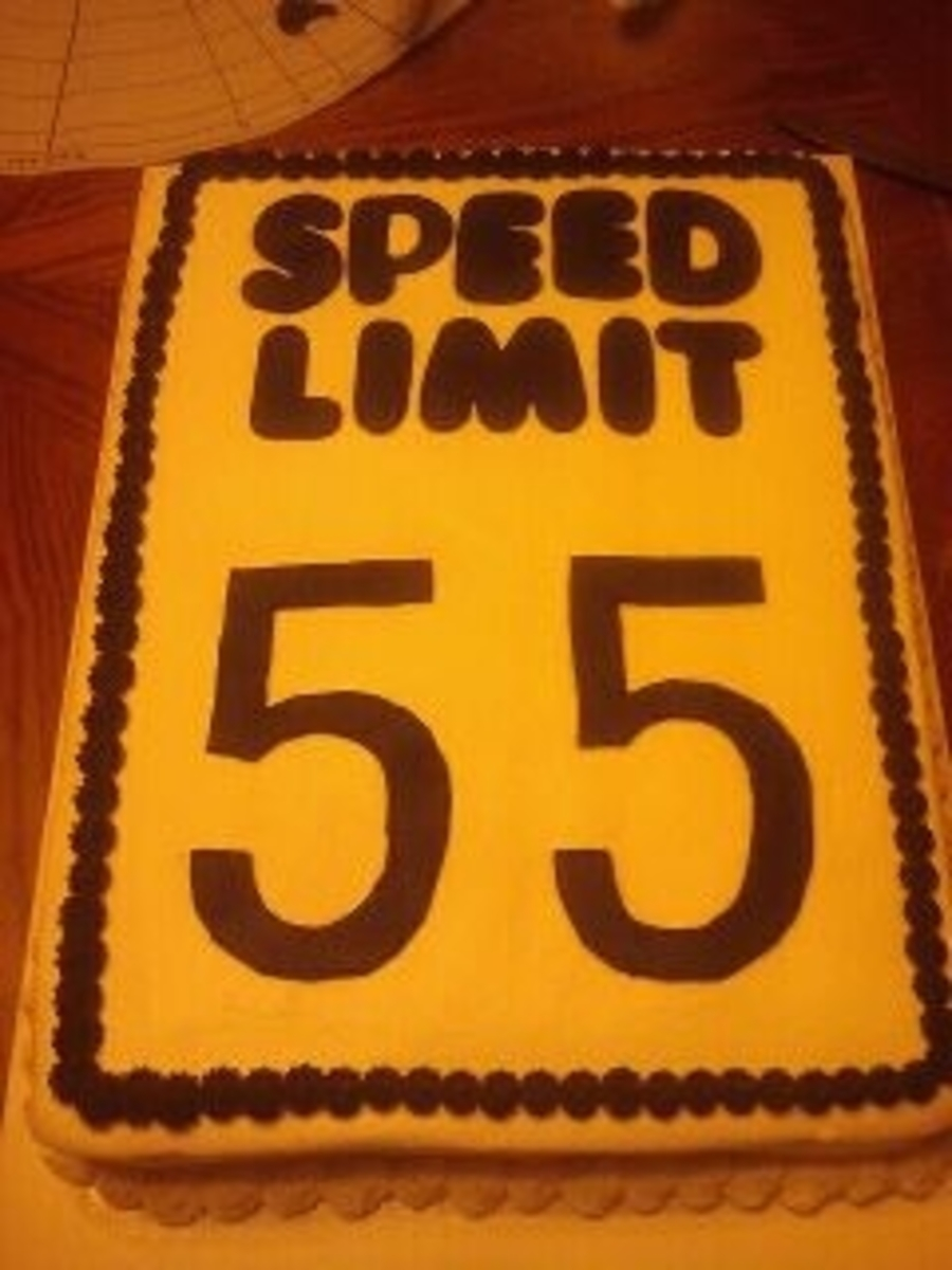 Awesome 55Th Birthday Speed Limit Cake Cakecentral Com Funny Birthday Cards Online Inifofree Goldxyz