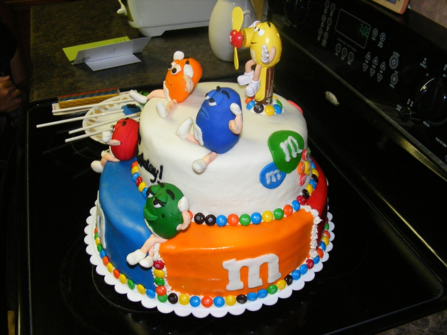MM Birthday Cake Made For A 4 Year Old Boy I Many Colors Of MMF To Use On The And Characters RKT