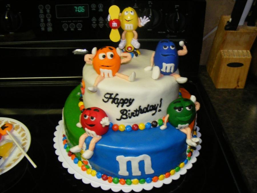 M m birthday cake for M m cake decoration ideas