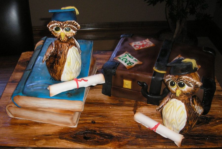 Graduation Owls on Cake Central