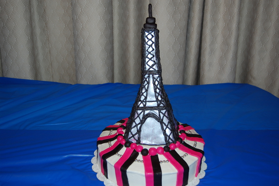 Wishing For Paris And Eiffel Tower  on Cake Central