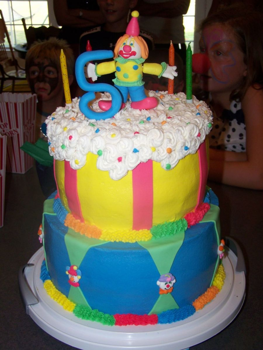 Colorful Clown Cake on Cake Central