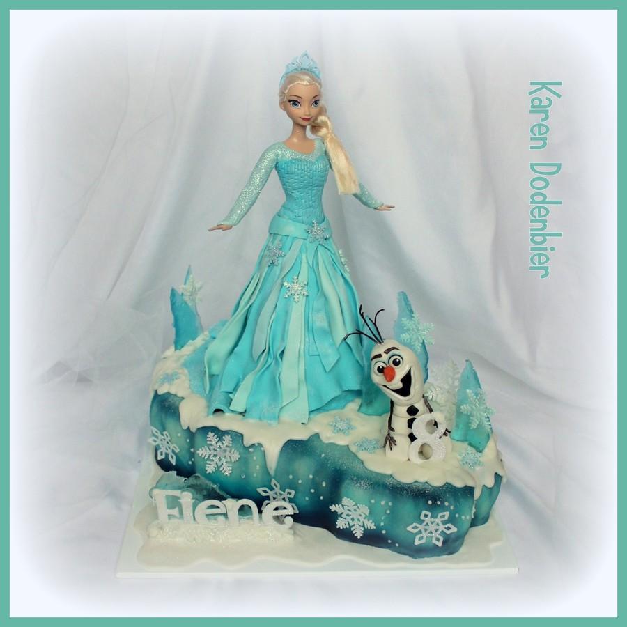 Elsa Doll Cake Decorations : Frozen Elsa Doll Cake - CakeCentral.com