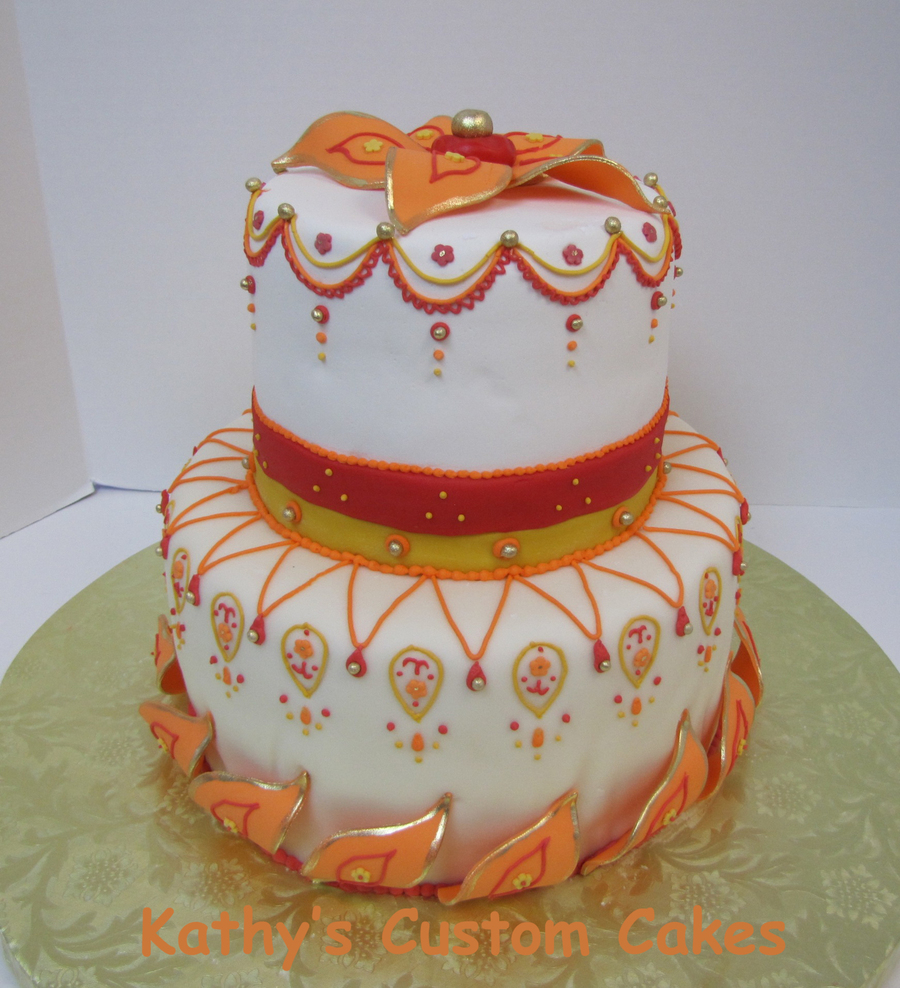 Indian Themed Birthday Cake