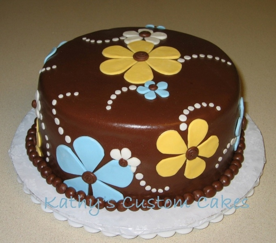 Chocolate And Flowers  on Cake Central