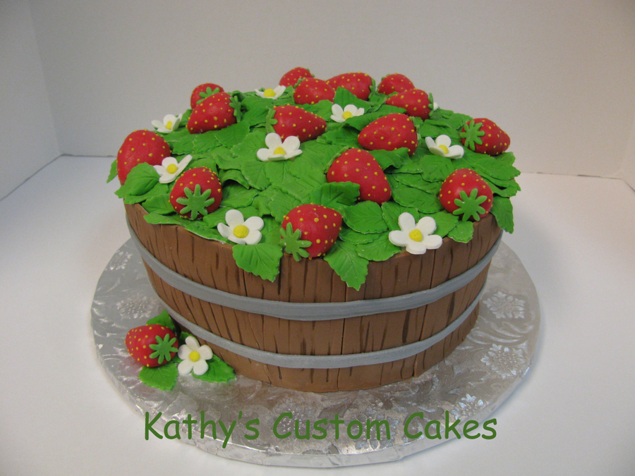 Strawberry Barrel on Cake Central