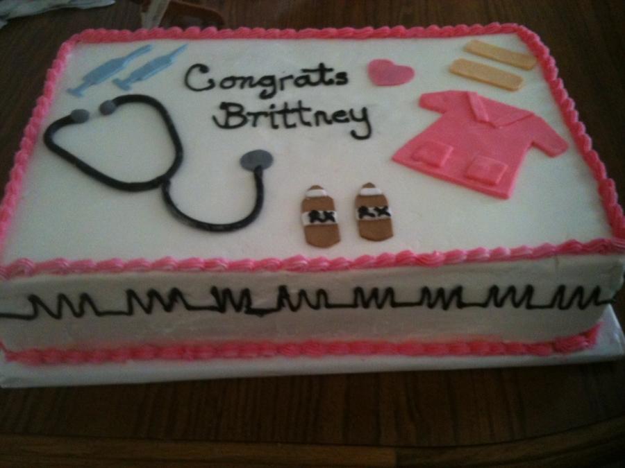 nursing assistant graduation cake