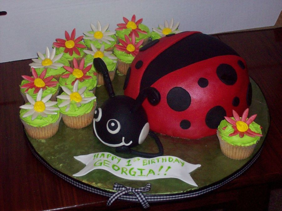Georgia's Lady Bug on Cake Central
