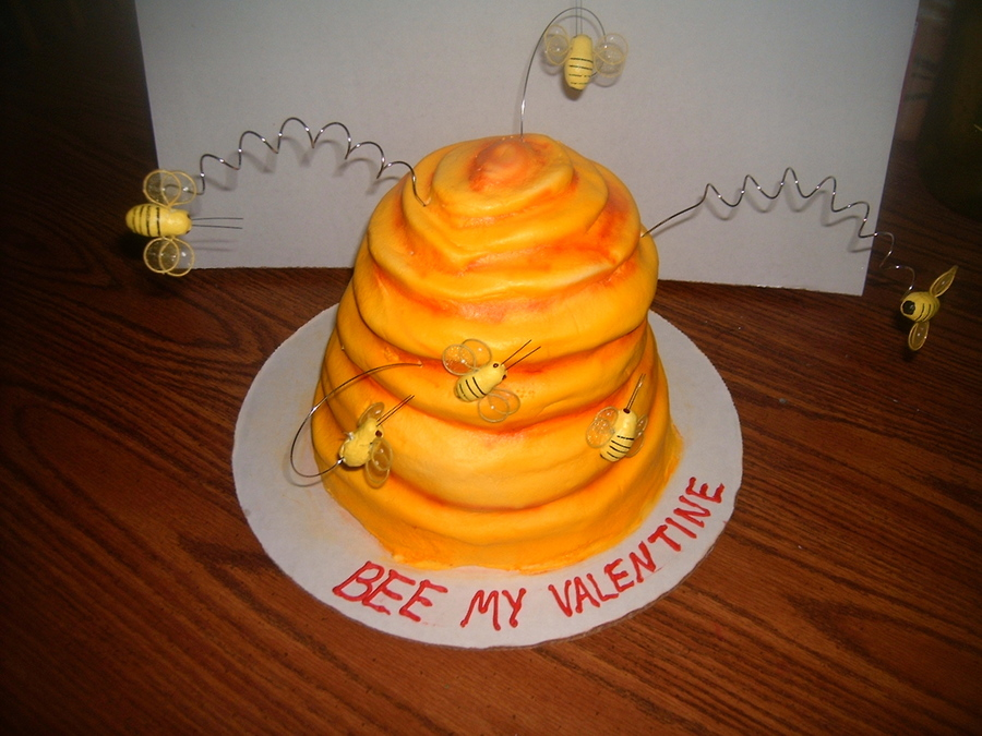 Busy Bee's Valentine's Day Cake on Cake Central