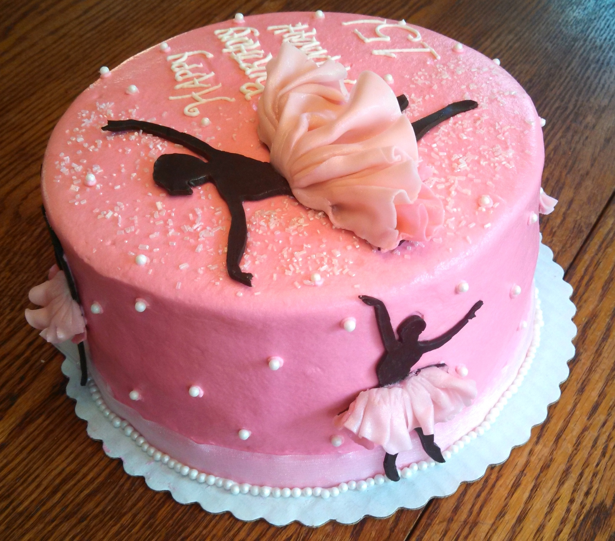 Ballerina Silhouette Cake Cakecentral Com