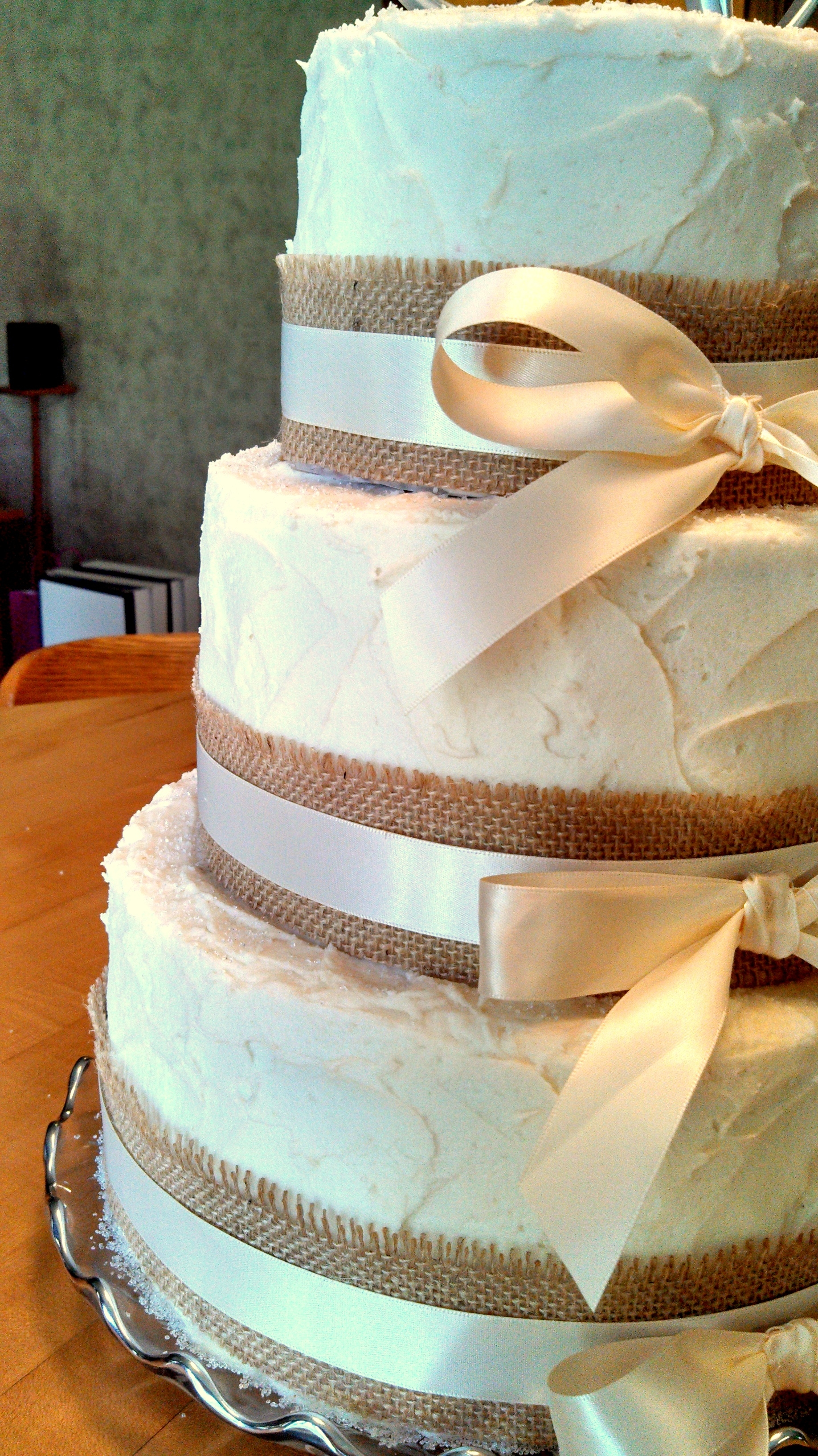 Cream Cheese Buttercream Wedding Cake
