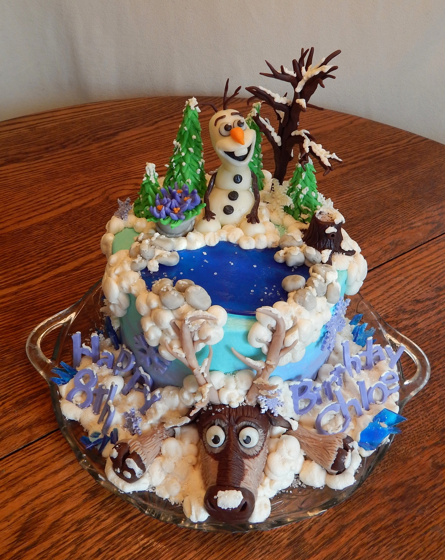 Frozen Olaf And Sven Cake Cakecentral Com