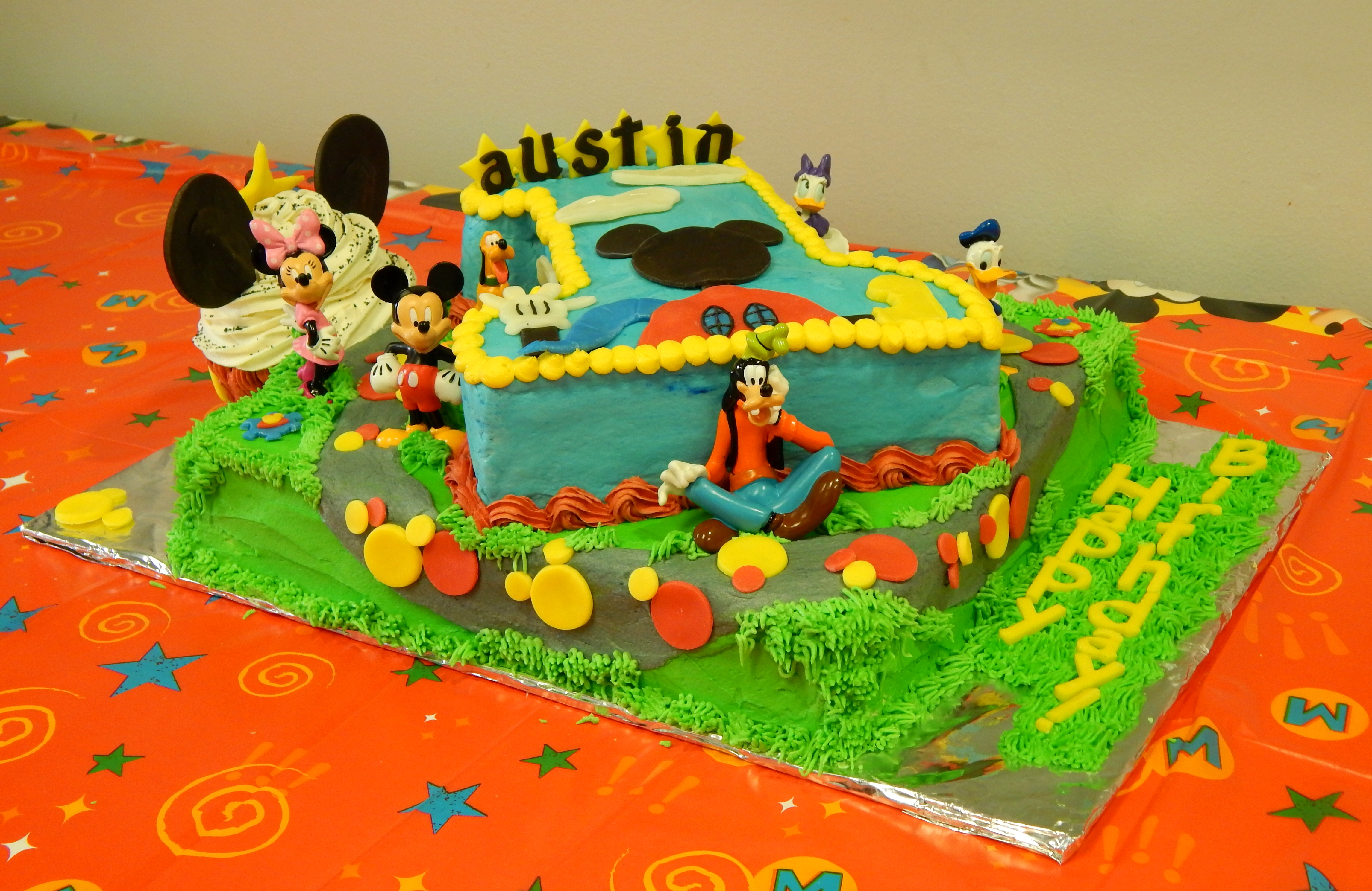 Mickey Mouse Clubhouse First Birthday Cake Cakecentral