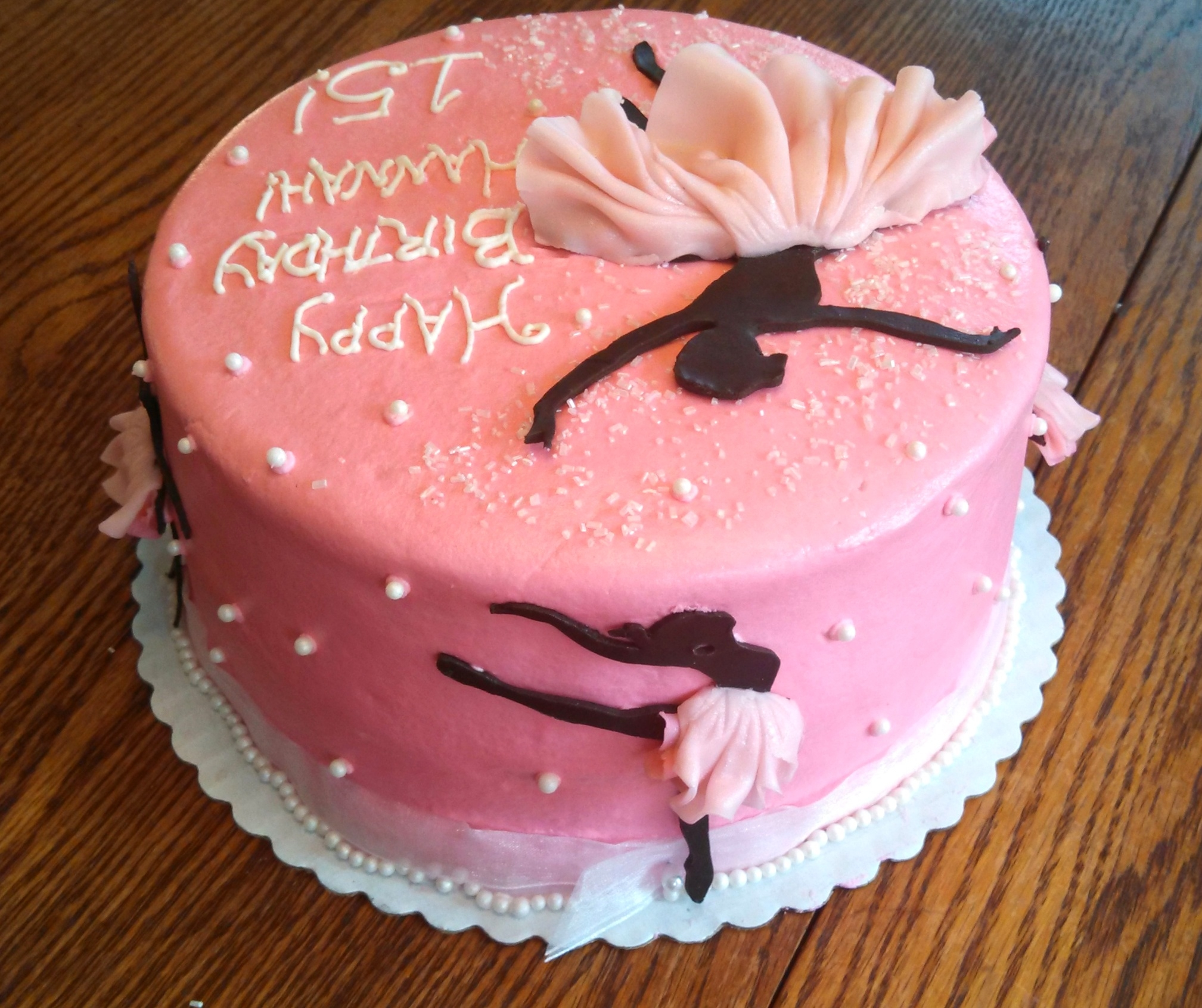 Cakecentral Com: Ballerina Silhouette Cake