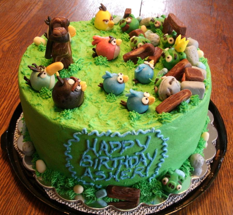 Angry Birds Birthday Cake CakeCentralcom