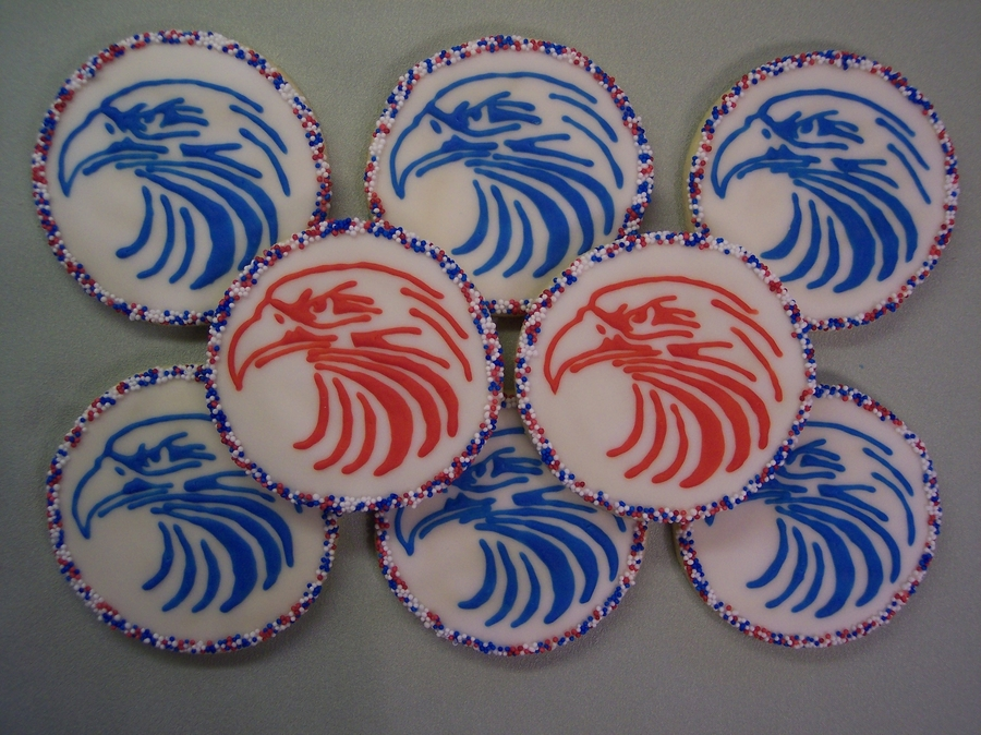 Memorial Day Eagles  on Cake Central
