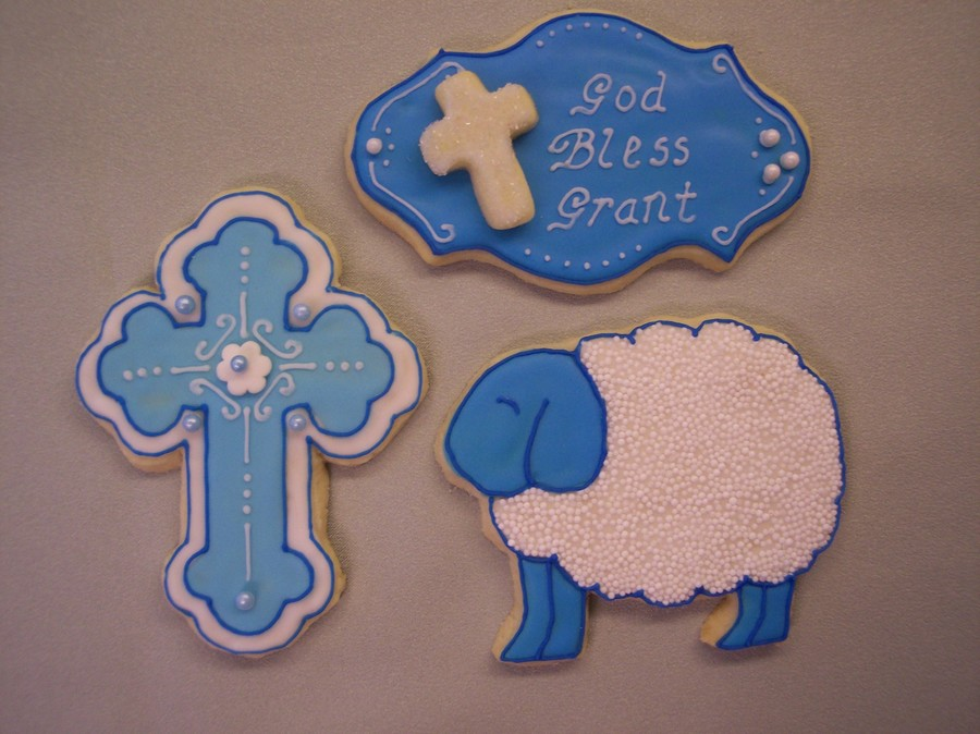 Baptism Cookies  on Cake Central