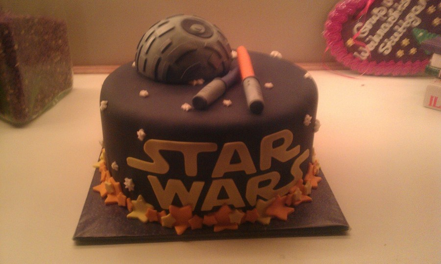 Fun Birthday Cake For A Friend Love Those No Pressure All Fondant And 5050 Decorations on Cake Central