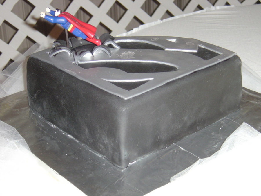 Superman Groom's Cake on Cake Central