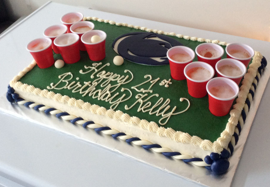 How To Make A Beer Pong Birthday Cake