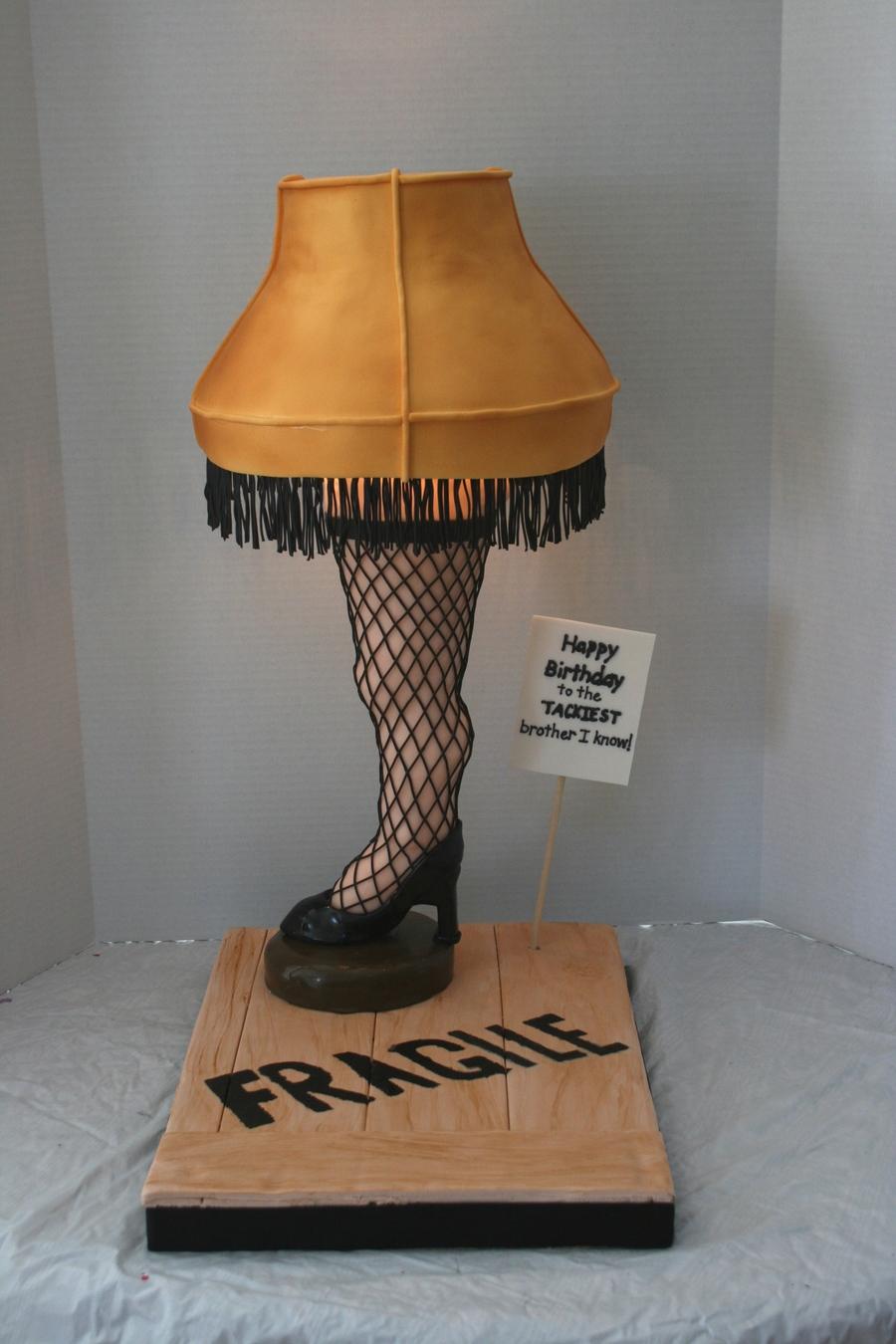 Leg Lamp Cake