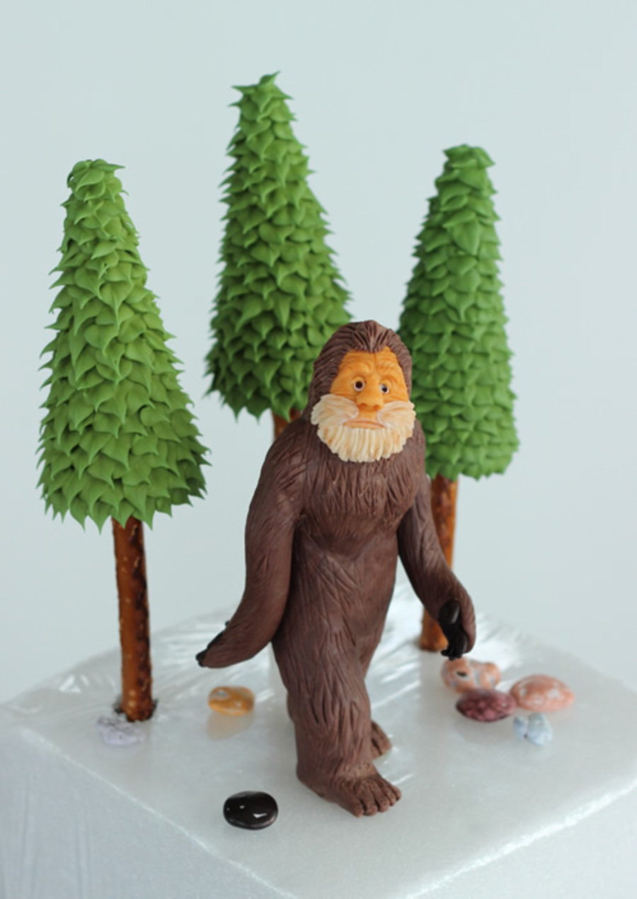 Bigfoot lawn ornament - This Is A Bigfoot Cake Topper And Some Trees That I Made For A Friend Bigfoot