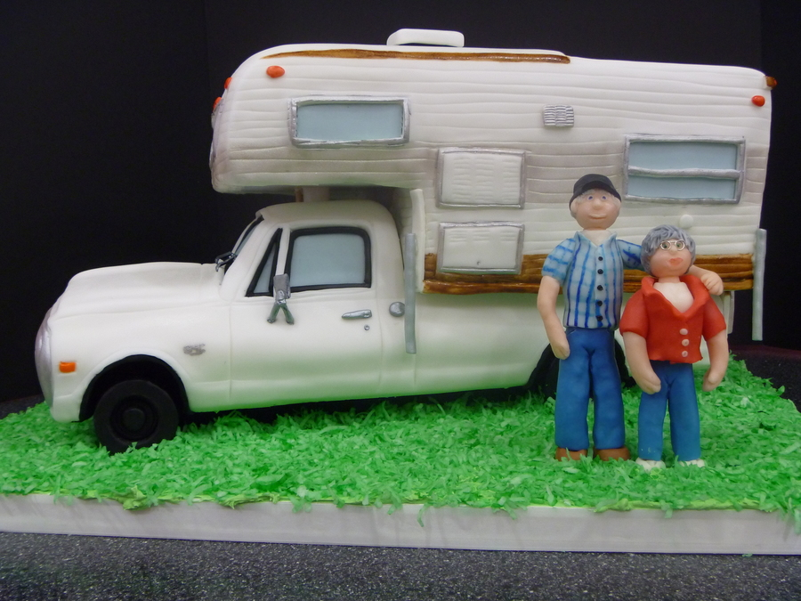 40Th Anniversary Camper Cake on Cake Central