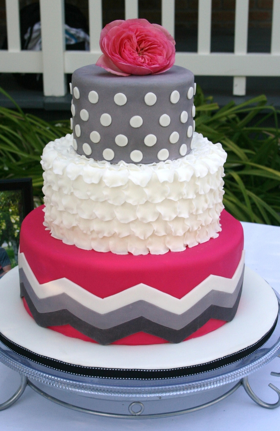 Chevron And Ruffles on Cake Central