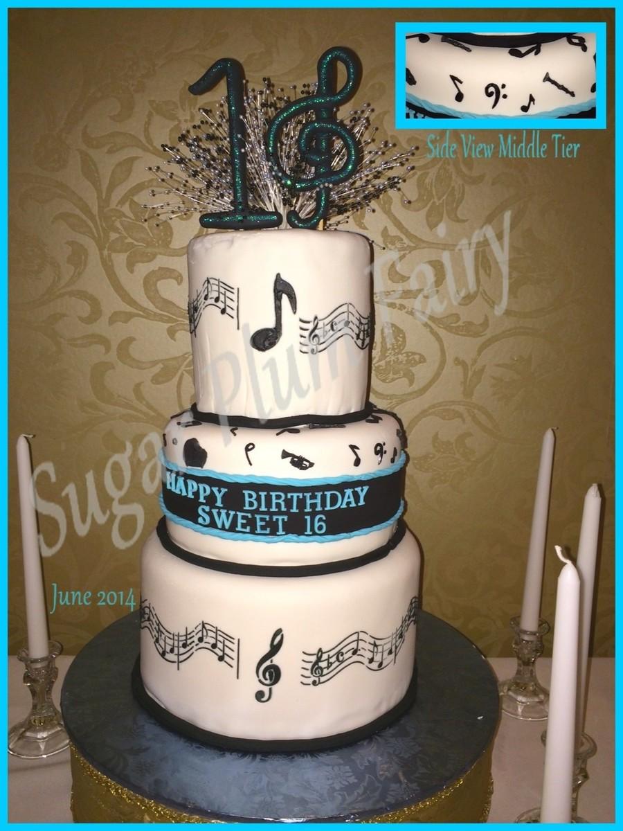 Sweet 16 3 Tier Cake Cakecentral Com