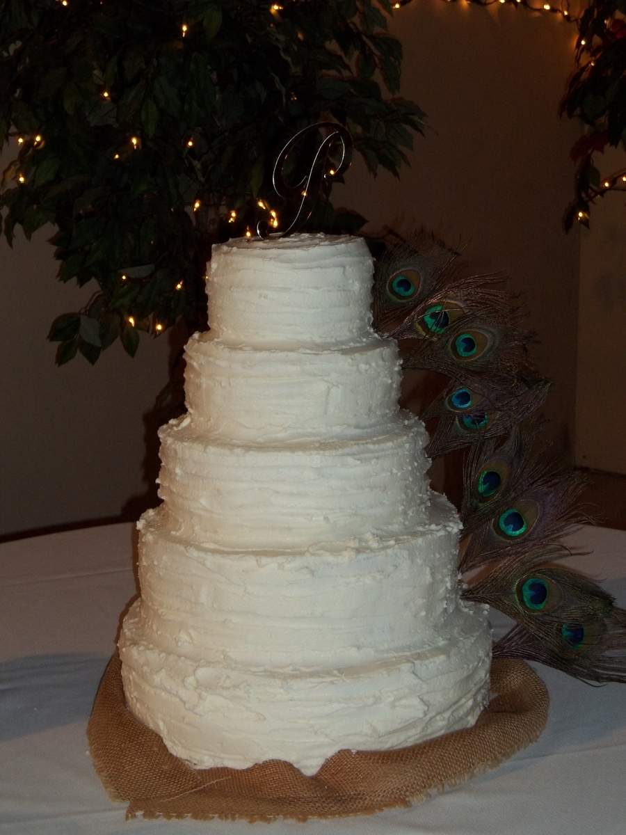 Rustic Peacock Wedding Cake on Cake Central