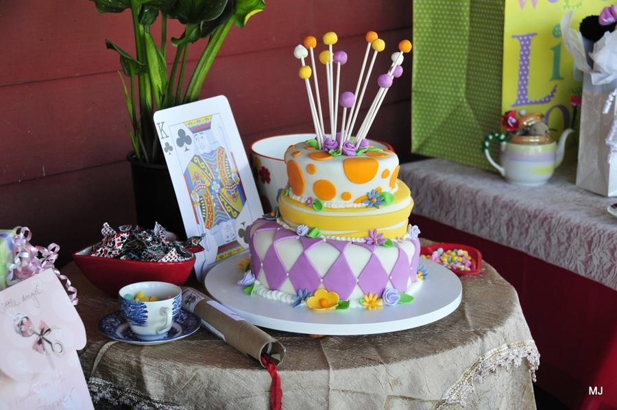 Alice In Wonderland Baby Shower Cakecentral