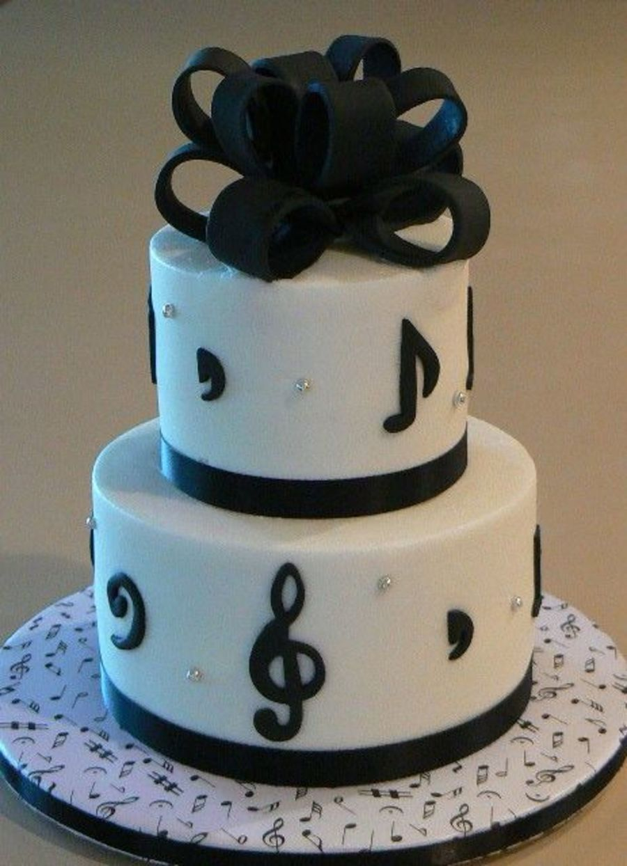 Musical-Themed Birthday Cake  on Cake Central