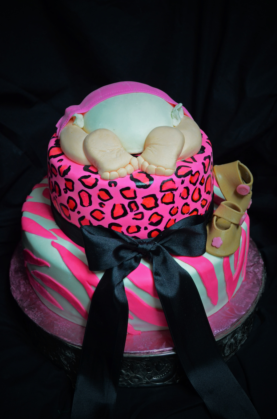 Animal Print Baby Shower Cake Cakecentral Com